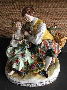 Rudolstadt - Volkstedt (?) - Figurine of courting couple