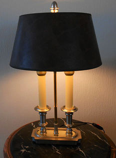 "Beautiful Spanish Library lamp ""Bouilottelamp"", 20th century"