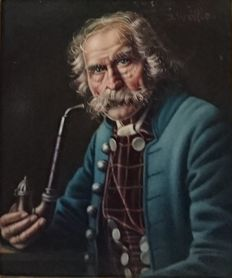 J. Wölfle (XX) - Old Man With Pipe