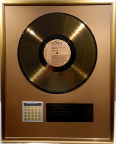 """Elvis Presley - Worldwide 50 Gold Award Hits Vol. 1 -  12"""" german RCA record gold plated record by WWA Awards"""