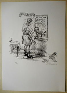"Crumb, Robert - Signed print - ""Placemat drawing"" - (2003)"