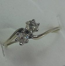 Toi avec Moi ring, approx. 1950 but in mint condition, no reserve price