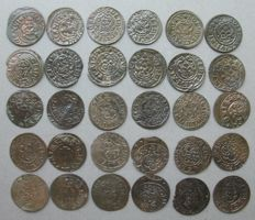 Livonia - Lot Solidus 1635/1654 Christina Queen of Sweden and Gustav II Adolf 1621/1634 (30 different)