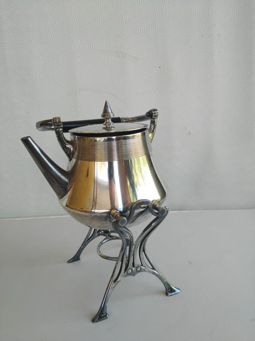 elegant silver plated kettle with stand marked wmf g made in germany catawiki. Black Bedroom Furniture Sets. Home Design Ideas