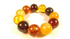 Round beads modified Baltic Amber  bracelet