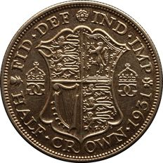 United Kingdom - ½ Crown 1931  1932 and 1935 George V (3 coins) - silver
