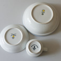 Lot of Wehrmacht porcelain tableware from WW2.