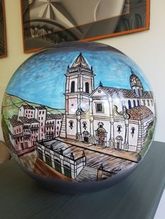 Serafino Dipasquale for Phidias - glazed ceramic sphere, Sicily