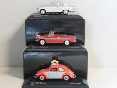 Minichamps - Scale 1/43 - Lot with 3 models: 2 x Borgward & 1 x Volkswagen