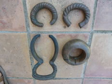 lot of 4 African bronze bracelets