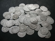 Poland – Lot with various coins, 16th and 17th century (54 pieces) – silver