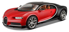 Bburago - Scale 1/18 -  Bugatti Chiron - Red/ Black