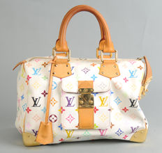 Louis Vuitton - White Monogram Multicolore - Speedy 30 hand Bag