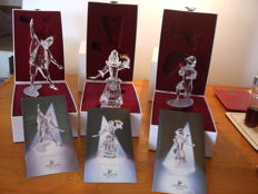 "Swarovski ""Masquerade"" Trilogy - Pierrot Colombine Harlequin - Annual Editions Collectors Society (SCS)"