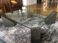 Unknown manufacturer- minimalist shaped marble coffee table
