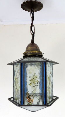 Art Deco lamp - stained glass