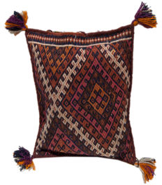 3859 authentic antique kilim cushion, original, collector's item, kilim Cicim, 56 x 43 cm, with certificate of authenticity from official expert (Galleria Farah 1970)