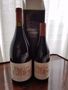 2001 Bricco dell'Uccellone x 1 Magnum and 1 burgonet
