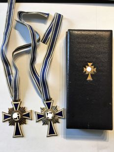 1933-1945, Third Reich The Cross of Honour of the German Mother, gold/silver and bronze