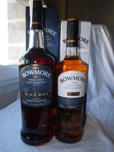 2 bottles - Bowmore Black Rock 40% & Bowmore Legend 40%