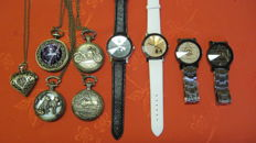Lot of 9 pocket and other watches