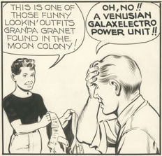 McWilliams, Al -  2 Original comic strips - Twin Earths - dailies for December 16 and 17, 1958