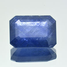 Blue sapphire with silk effect - 1.59 ct.