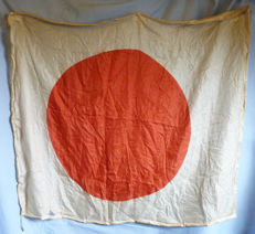 Original Large WW2 Imperial Japanese Army Pure Silk Flag