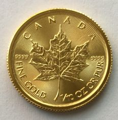 Canada: 1/10 oz gold coin - 5 dollar maple leaf - 2017