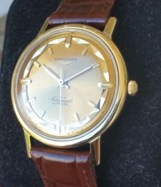 Longines Conquest, in gold  - Pie pan dial in solid 18 kt gold - 1966