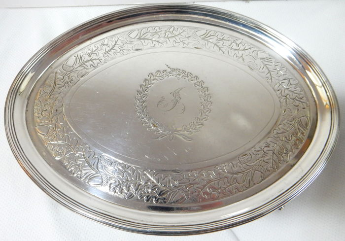 Silver salver, George III, Elizabeth Jones, London, 1795