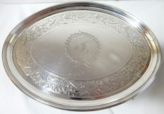 A George III silver salver with the mark of Elizabeth Jones, London - 1795