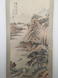 Hand painted scrolls painting, made after Zhang Daqian - China - late 20th century