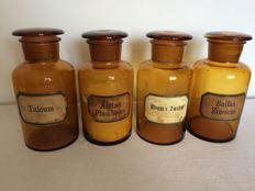 Four apothecary bottles with glass stoppers -Netherlands-ca. 1900