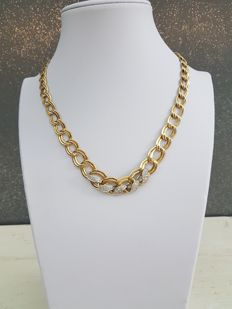 Yellow and white gold necklace – 1980s – Made in Italy
