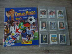 Panini - World Cup Story - Empty album + complete set of stickers.