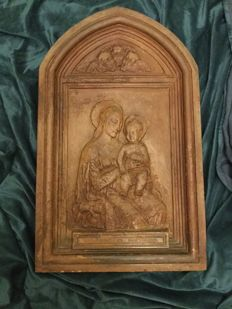 "Terracotta niche ""Madonna con Bambino"" - Tuscany or Lombardy, Italy - 19th-century, maybe previous to that period"