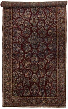 Antique, authentic Persian Sarokh Amerikano – Rare, original and exceptional rug – Iran, 1900-1920 – Size: 460 x 212 cm – With certificate of authenticity – (Galleria Farah 1970)