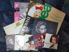"""Madonna : 12 collectible items including  - Japan + Obi - Promo - Colour Vinyl - 12"""" - 7"""" and more."""