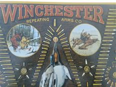 Rarities .Set: two plates, logo, Winchester (R) Vintage 1991 advertisement. Licensed.