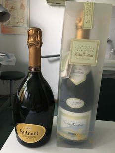 Champagne Dom Ruinart & 1995 Nicolas Feuilatte Champagne Millesime - 2 Bottles both with original box