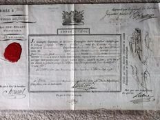 Italian army of BONAPARTE, reform notice signed by Major General 17/09/1798
