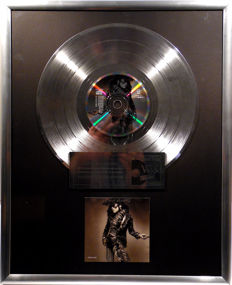 "Lenny Kravitz - Mama Said 12"" german Virgin Music platinum plated record with CD and cover by WWA gold Awards"