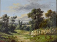 Alfred Stone. (1840-?) - A pair of rural landscape scenes