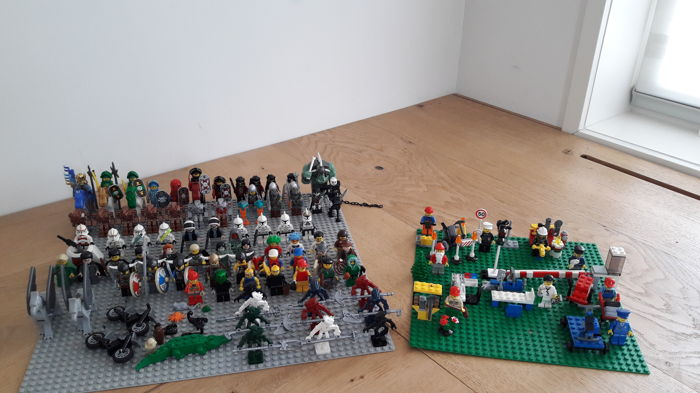 Assorted 86 Lego Mini Figures Accessories Including Star Wars