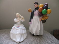 Pair of Royal Doulton porcelain figures,  BIDDYPENNY , JEAN