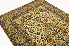 Fine Persian carpet Kashan 3.10 x 2.00 cream handwoven high quality new wool oriental carpet GREAT CONDITION