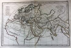 Europe, Africa, Middle East; F. Delamarche - 5 copper engravings - 1827 / 1828