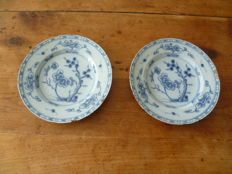 Delft - Pair of plates with Chinese décor