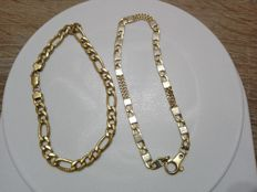 Two 18 kt yellow gold bracelets